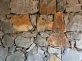 Basalt random rubble masonry